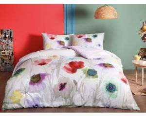 Постельное белье TAC RANFORCE 2-х сп. евро Belinda (Белинда светлое с цветами)