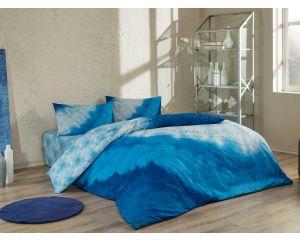 Постельное белье TAC RANFORCE ANTIBACTERIAL 2-х сп. евро Horizon (Горизонт голубое)