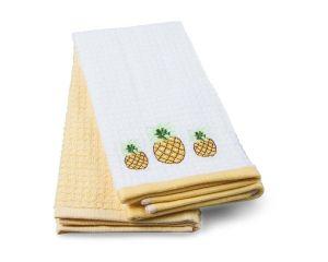 Набор кух.полотенец TAC 40x60 махровые, вышивка, 2шт., 350г/м2 Pineapple (Ананасы)