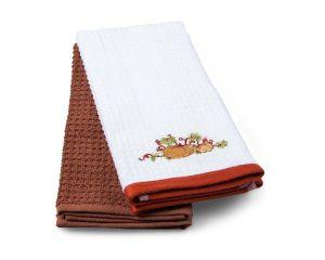 Набор кух.полотенец TAC 40x60 махровые, вышивка, 2шт., 350г/м2 Pumpkin (Тыква)