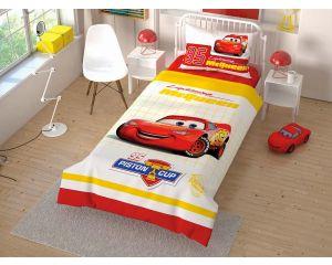 Постельное белье TAC RANFORCE детское на резинке 1.5-сп Disney Cars Cek (Тачки Чек)