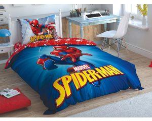 Постельное белье TAC RANFORCE детское на резинке 1.5-сп Spiderman Time to Move (Спайдермен - Тайм ту Мув)