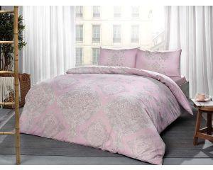 Постельное белье TAC RANFORCE 2-х сп. евро Mirabel (Мирабель розовое)