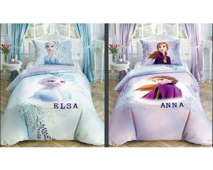 Постельное белье TAC RANFORCE детское на резинке 1.5-сп Disney Frozen 2 Double Face (Холодное сердце 2 двустороннее)