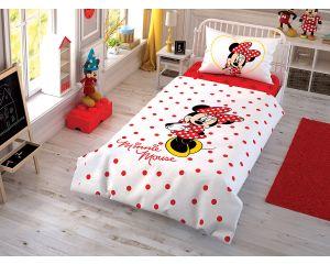 Постельное белье TAC RANFORCE детское на резинке 1.5-сп Disney Minnie Cek (Минни Маус Чек)