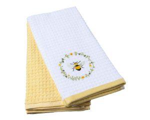 Набор кух.полотенец TAC 40x60 махровые, вышивка, 2шт., 350г/м2 Daisy Bee (Деловитая пчелка)